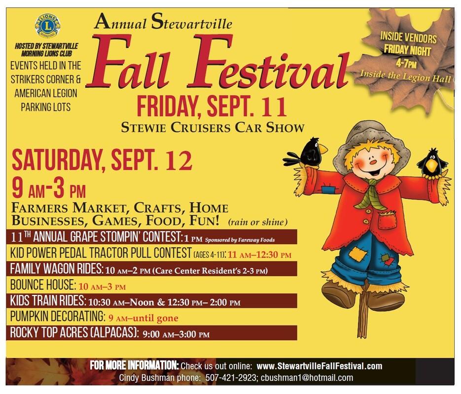 Fall Festival 2020.Stewartville Fall Festival Stewartville Fall Festival